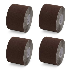 K-Tape My Skin Very Dark Brown - Box mit 4 Rollen